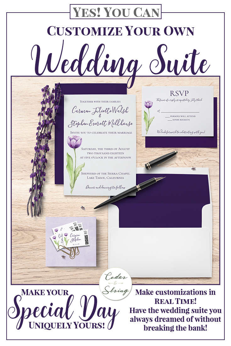 Yes you can have an affordable custom wedding suite