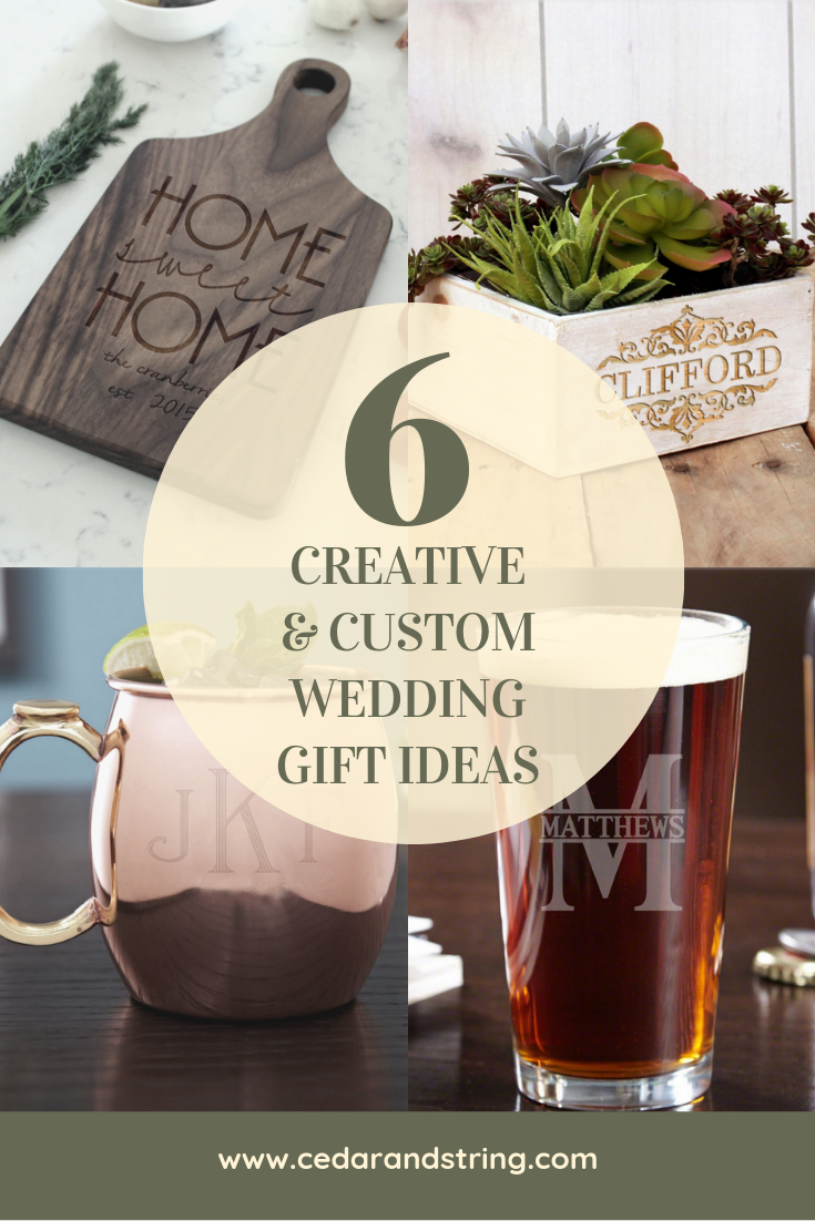 6 Creative and Custom Wedding Gift Ideas from Cedar and String